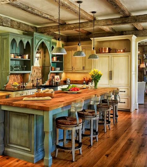 kitchen island country 46 fabulous country kitchen designs ideas