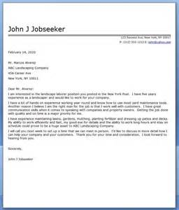 Cover Letter For Customer Service Sle by Sle Landscaper Resume