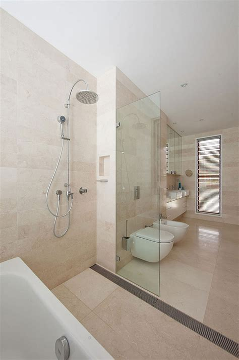 shower area gorgeous multi level family house in sydney charms with