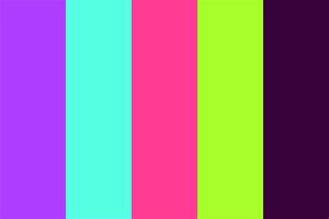 neon color scheme neon light color palette