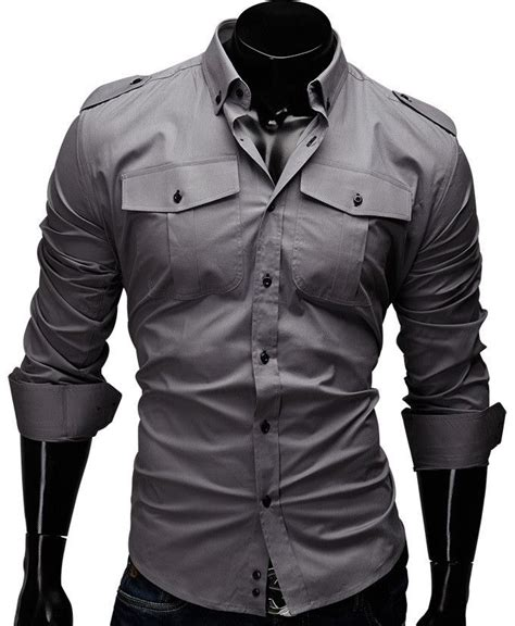 Kemeja Manly Noula Coklat Slim Fit Pattern Shirt solid shirt single breasted sleeve and casual shirt