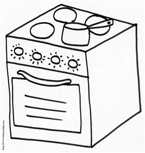 cuisine dessin coloriage cuisine