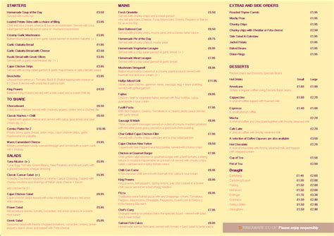 the living room drinks menu huffys in stockport cheshire serving modern