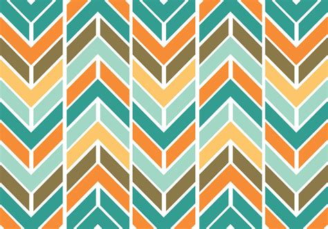 colorful funky chevron pattern vector free