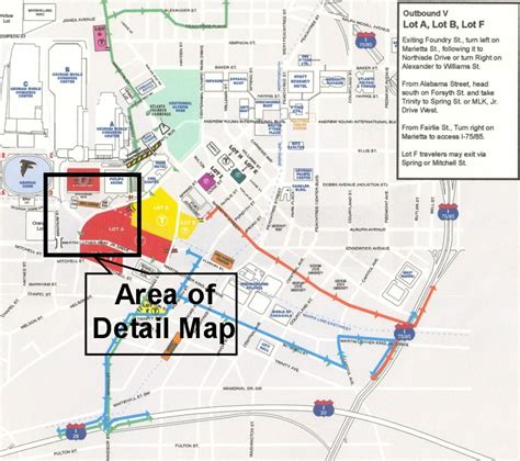 map of dome tailgate directions