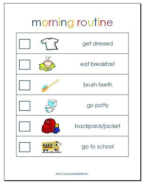 printable toddler morning routine chart morning routine printable kids pinterest