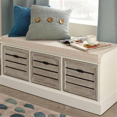 bedroom bench with drawers http www dunelm mill shop atlanta white 3 drawer bench