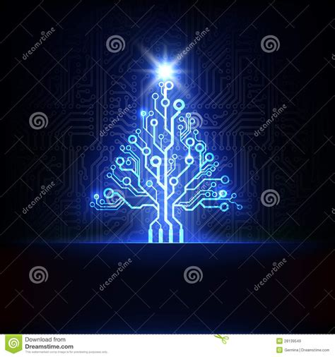 vector electronic christmas tree stock vector image