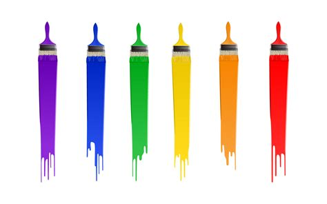 und colors painting brush the rainbow abstract