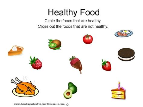 Healthy Snacks Worksheet by Healthy Food Healthy And Unhealthy Food Worksheet