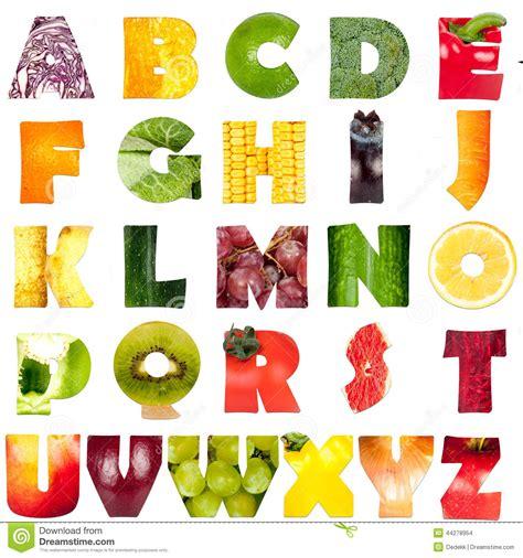 vegetables 6 letters alphabet stock photo image 44278954