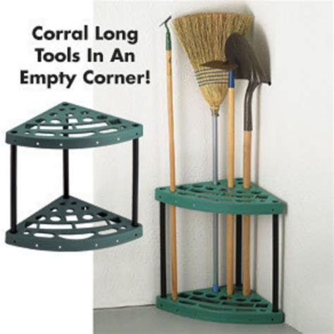 Shovel And Rake Storage Rack by Corner Garage Shed Garden Tool Rack Shovel Broom Rake