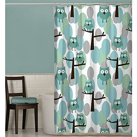 owl fabric shower curtain polyester standard wide decor