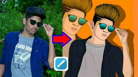 tutorial vector picsart vector art editing tutorial in mobile part 1 cartoon