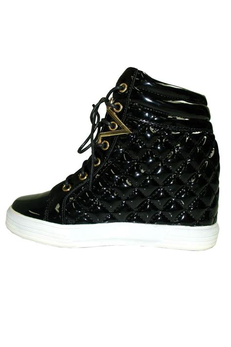 l a shoes patent quilted sneaker from florida by l a