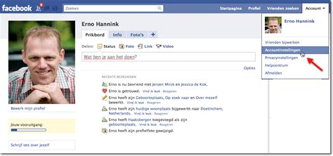 fb id hoe verwijder ik mijn account in facebook erno hannink