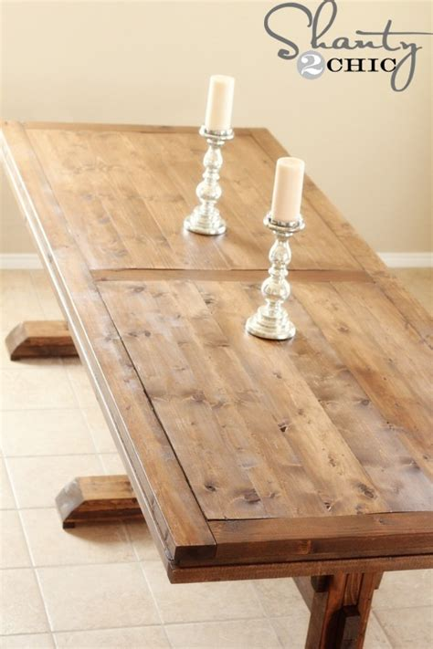 diy dining table pedestal farmhouse shanty 2 chic