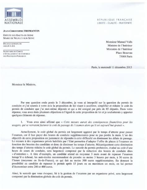 Exemple De Lettre Adressée Au Ministre De L Intérieur Exemple De Lettre De Demande De Laisser Passer Covering Letter Exle