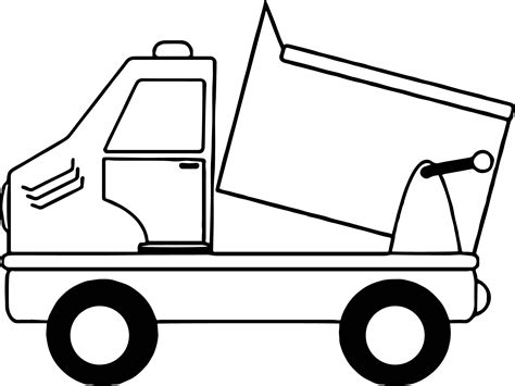 Simple Dump Truck Coloring Pages by Simple Drawing Of A Dump Truck Coloring Page