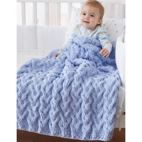 knitted baby comforter shadow cable baby blanket in bernat baby blanket crochet