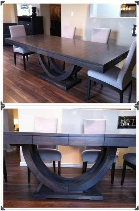 Gray Stained Dining Table New Contempo Pedestal Dining Table In Slate Grey Stain Dining Polanco Home Decor