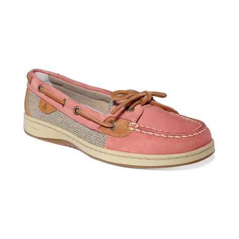topsiders shoes lyst sperry top sider womens angelfish boat shoes in