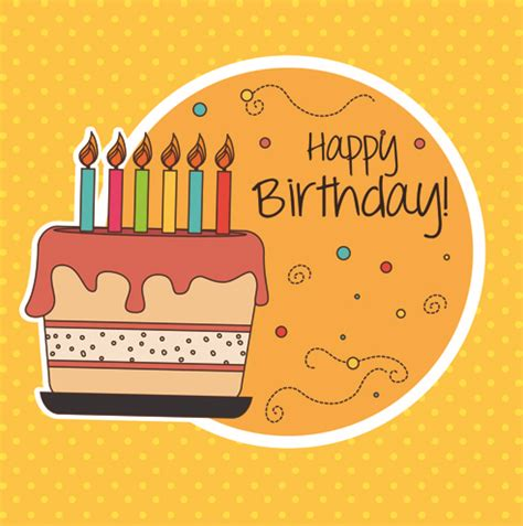 Cartoon Style Happy Birthday Greeting Card Template Free Vector In Encapsulated Postscript Eps Happy Birthday Template