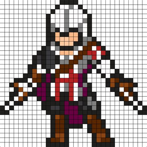 pattern jeu video assassins creed perler bead pattern bead sprite