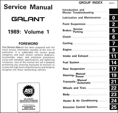1989 1992 mitsubishi galant repair shop manual set original 1989 mitsubishi galant repair shop manual set original