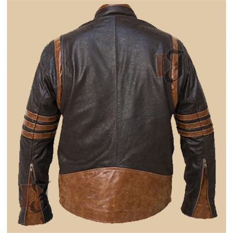 Jaket Wolverine Brown buy origins logan wolverine brown biker jacket