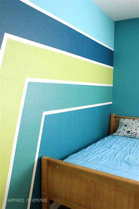 livelovediy diy striped wall guest bedroom makeover bedroom paint ideas with stripes 28 images boys