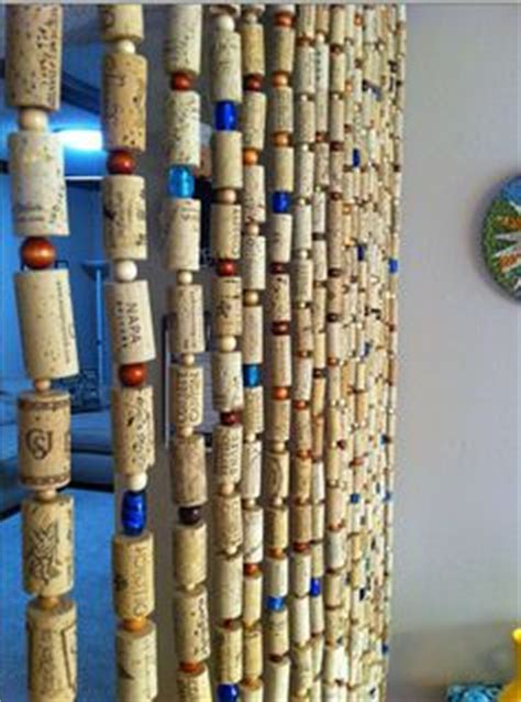 wine cork curtain hanging door beads on pinterest beaded door curtains