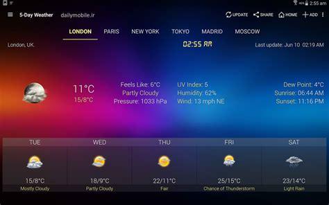 weather clock widget android دانلود ویجت هواشناسی برای اندروید weather clock widget android