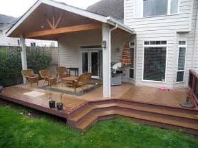 Deck And Patio Designs Trex Brasilia Deck And Patio Cover Corvallis Tnt Builders