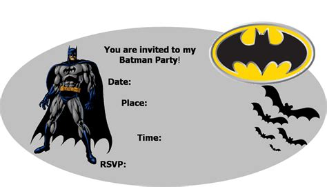 printable birthday invitations batman batman party invitations template best template collection