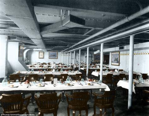 titanic gravy boat uk colourised images show the luxury aboard the titanic