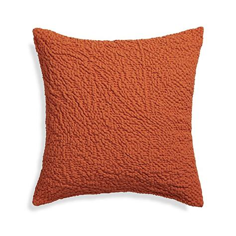 Crate And Barrel Pillows by Pebble Orange 18 Quot Pillow Crate And Barrel