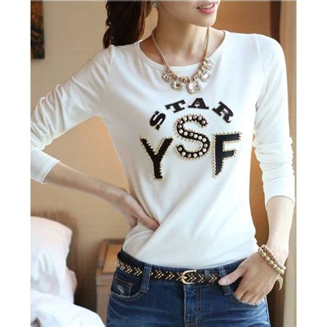 Kaos Fashion T Shirt Wanita My Brain kaos lengan panjang wanita t1502 moro fashion
