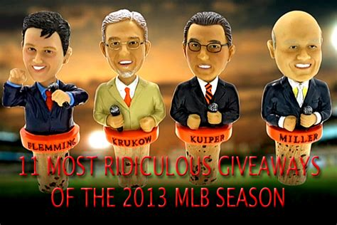 Baseball Giveaways - 11 most ridiculous giveaways of the 2013 mlb season total pro sports