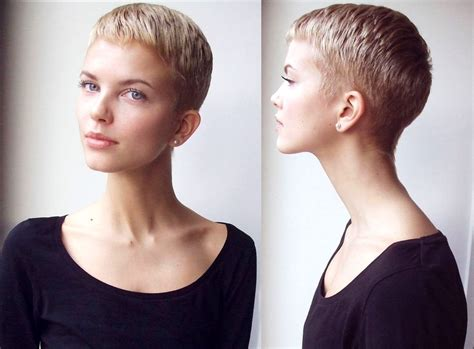 shaved sides pixie pixie cut with shaved back short hairstyle 2013 short