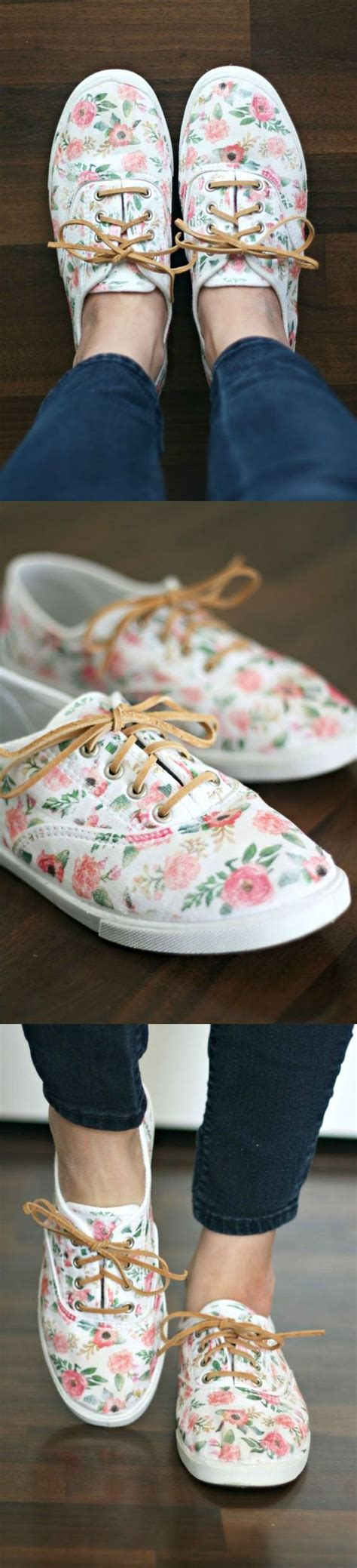 diy floral shoes use this and simple tutorial to revive your canvas