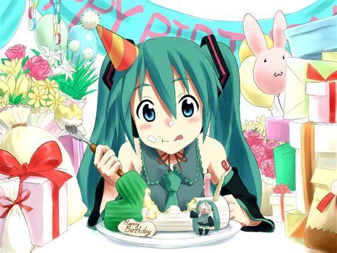 imagenes anime de feliz cumpleaños feliz cumplea 241 os hatsune miku anime en espa 241 ol