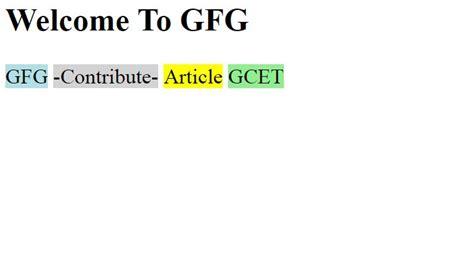 span color span tag html geeksforgeeks