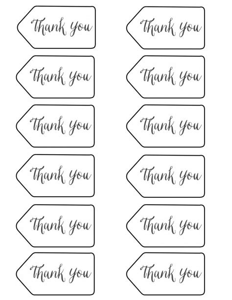 thank you tags printable graduation party ideas