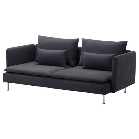 better sofas s 214 derhamn three seat sofa samsta dark grey ikea
