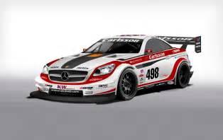 Racing Mercedes Cars Gto Carlsson Mercedes Slk Race Car