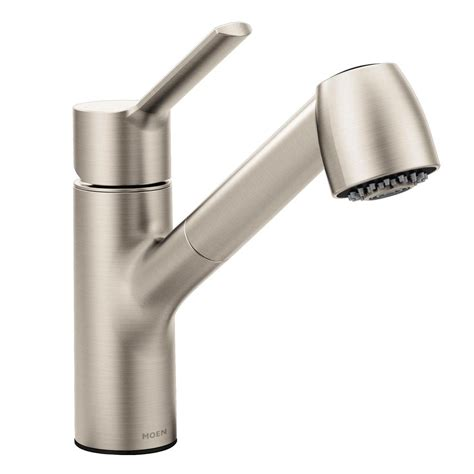 moen kitchen faucet pull out spray moen method single handle pull out sprayer kitchen faucet