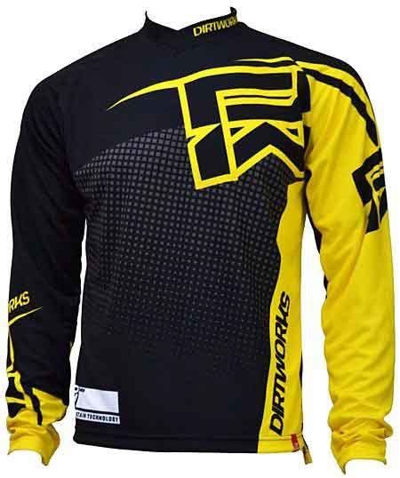 Jersay Sepeda jersey sepeda dirtworks skylar kuning jual baju jersey