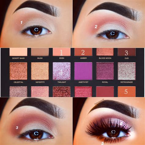 tutorial makeup huda beauty hudabeauty desert dusk palette farah lashes makeup