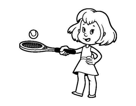 imagenes de niños jugando tenis para colorear dibujo de ni 241 a con raqueta para colorear dibujos net